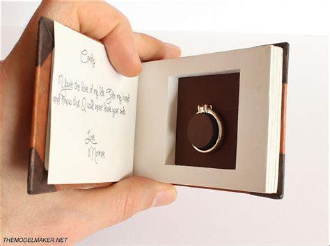 ellie s adventure book engagement ring box themodelmaker