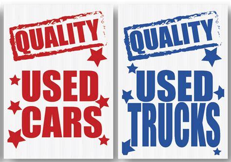Quality Used Cars Quality Used Trucks Underhood Sign Set ...