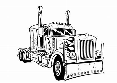 Semi Truck Drawing Coloring Pages Getdrawings
