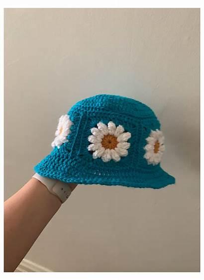 Crochet Daisy Hat Bucket Pattern Patterns Ravelry