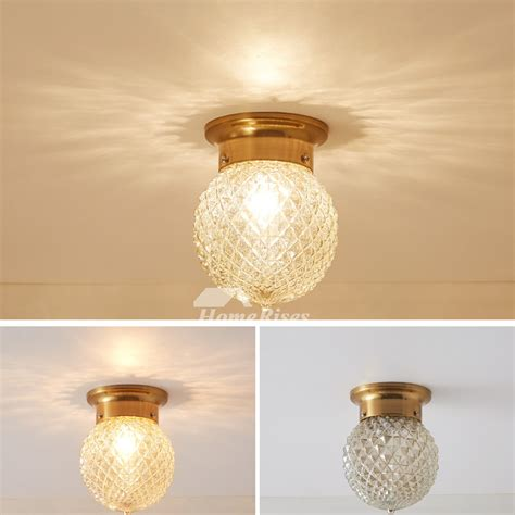 gold small ceiling light glass ball shades planet lamp
