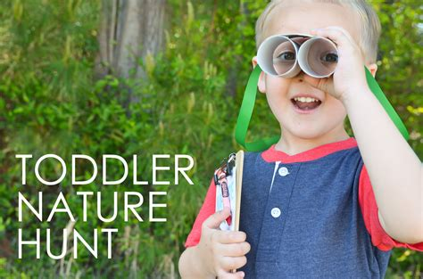 diy toddler nature hunt project nursery