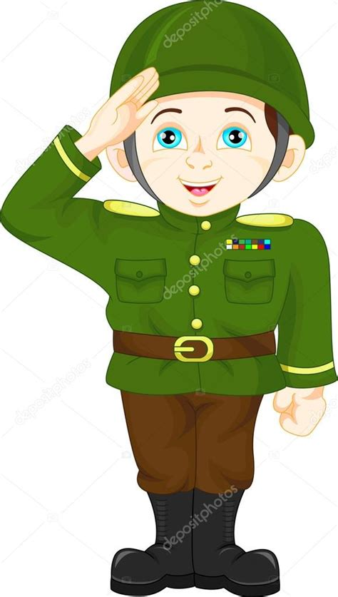 vector nino soldado nino soldado de ejercito posando vector de stock  lawangdesign