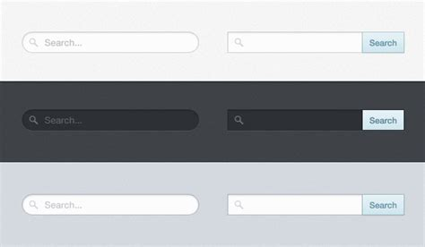 search bar dropdown free psd and html