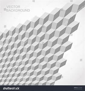 Seamless Tilable Gray 3d Isometric Cube Stock Vector ...