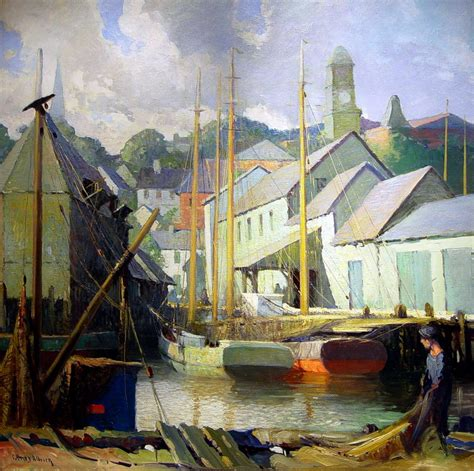 East Gloucester Docks, 1919 By George Ames Aldrich