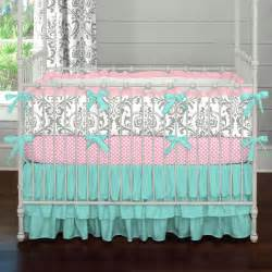 gray and teal damask crib bedding carousel designs