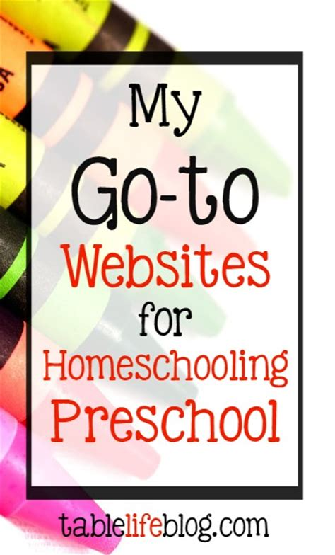 my go to websites for homeschooling preschool tablelifeblog 991 | Websites Homeschooling Preschool