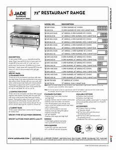 72 U0026quot  Restaurant Range Jsr-72g-36 Manuals
