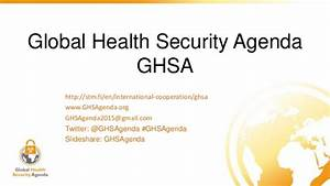Global Health Security Agenda GHSA