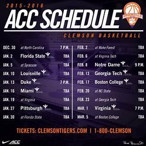 2015-16 Men's Basketball Schedule Announced - Clemson ...