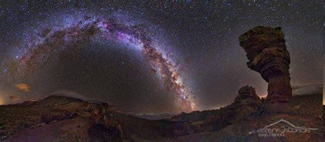 Sky Stars Desert Landscape Rock Formation Night