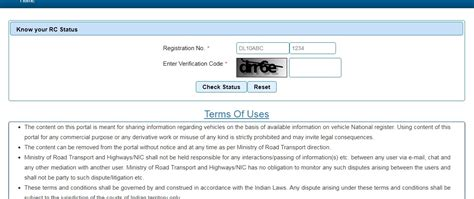 Check Vehicle Rc (registration Certificate) Details Online