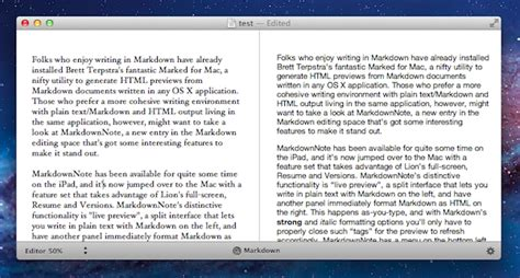 How To Format Resume In Markdown by Markdownnote Brings Live Markdown Previews To Os X Macstories