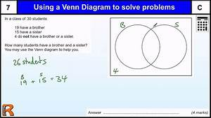 Venn Diagram To Solve A Problem Gcse Maths Revision Exam Paper Practice  U0026 Help