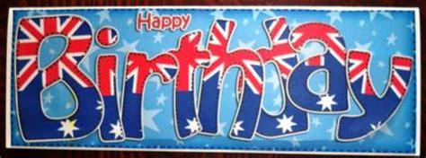 australian flag birthday large dl quick card  decoupage