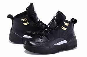Nike Jordan 12 Retro Shoes For Kids Black Outlet Factory ...