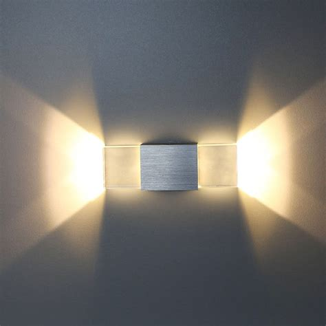tanbaby acrylic led wall l 2w up and wall sconce