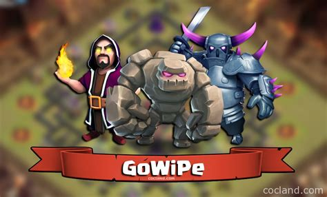 Modified Gowipe Attack by Gowipe Guide For Town 10 Clash Of Clans Land
