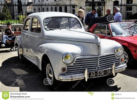 vintage peugeot car peugeot 203 manufactured from 1948 to 1960 editorial