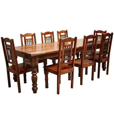 wooden chairs for dining table rustic furniture solid wood large dining table 8 chair set