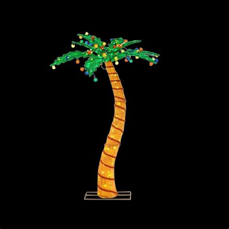 light up palm tree home accents 72 in led lighted tinsel palm tree