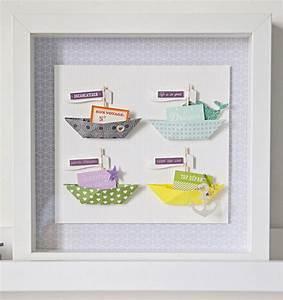 Cadre Photo Profond : home deco un cadre de petits bateaux en origami kesi 39 art le blog ~ Teatrodelosmanantiales.com Idées de Décoration