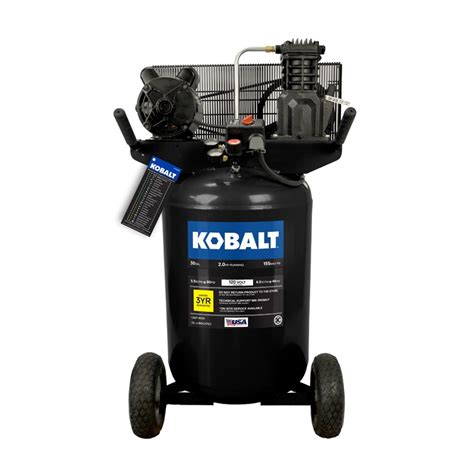 kobalt 30 gallon portable electric vertical air compressor at lowes com