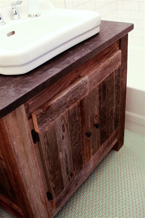 bathroom reclaimed wood bathroom vanity  access
