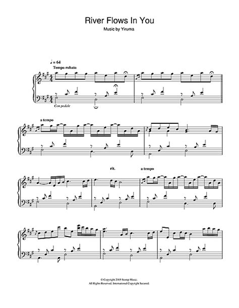 Sheets daily is a daily updated site for those who wants to access popular free sheet music easily, letting them download the sheet music for free his most famous pieces are kiss the rain, and also river flows in you. River Flows In You sheet music by Yiruma (Piano - 48885)