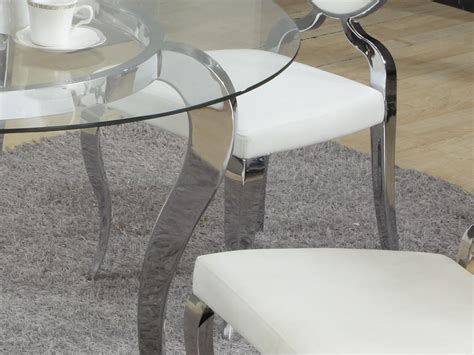 round glass breakfast table set refined round glass top dining room furniture dinette