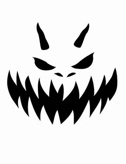 Pumpkin Carving Printable Templates Scary Stencils Stencil