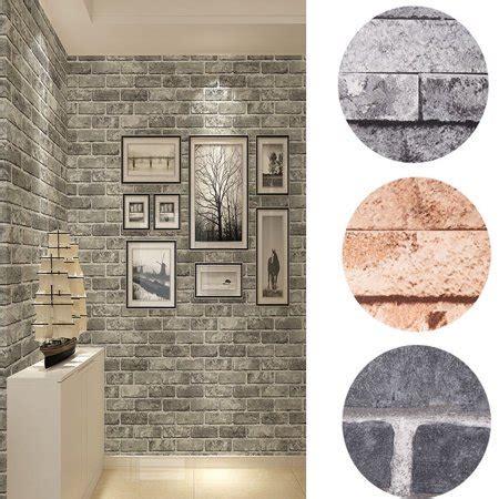 hurrise retro  wallpaper bedroom mural roll stone brick wall background textured art walmartcom
