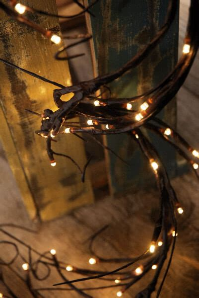 led branch light garland warm white