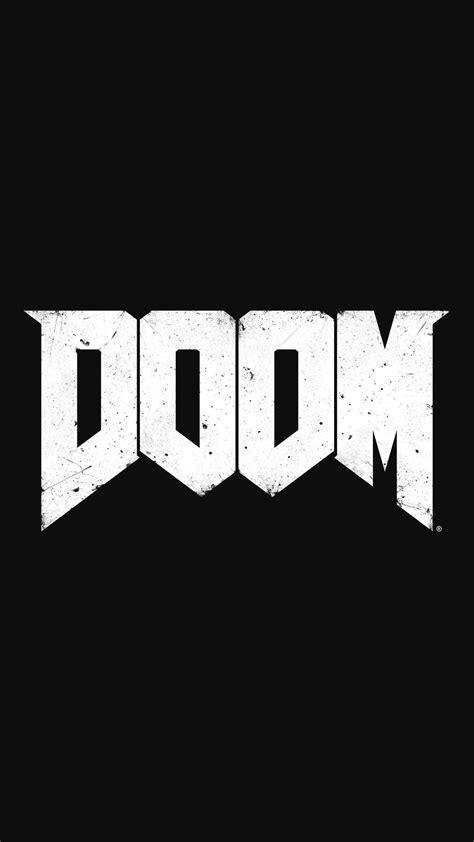 doom logo shooter game smartphone wallpaper  lockscreen
