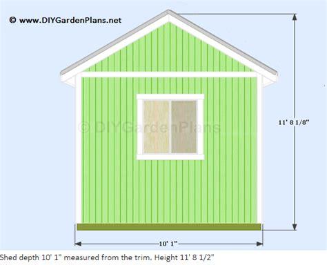 sheds ottors 8 x 10 gable shed plans