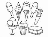 Ice Cream Coloring Template sketch template