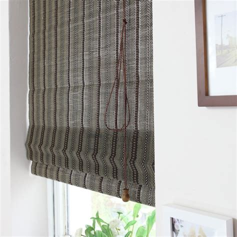 vintage black custom bamboo shades with valance