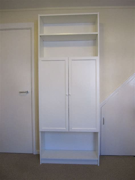 ikea billy bookcase  white  oxberg doors