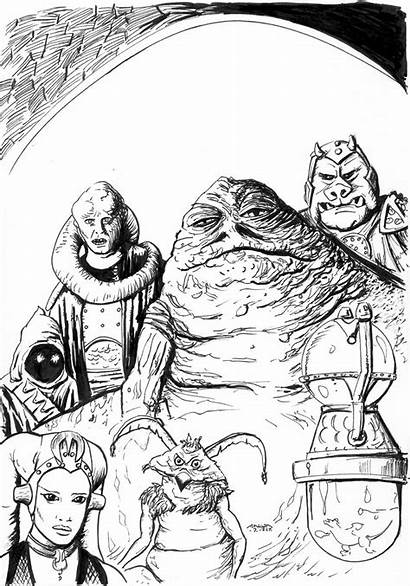 Jabba Coloring Hutt Deviantart Wars Hut Drawings