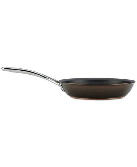 anolon nouvelle copper luxe sable hard anodized  stick skillet set reviews cookware