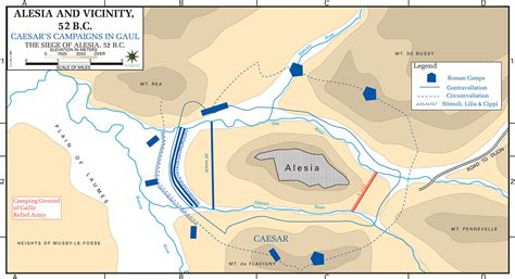 siege d alesia map of the siege of alesia 52 bc