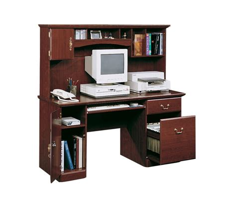 sauder salt oak writing desk sauder desks costa chalked chestnut desk hutch with