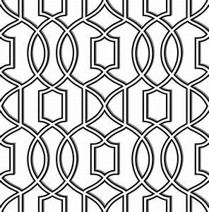 Quantum Black and White Trellis Wallpaper from the ...