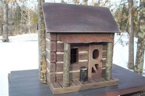 Log Cabin Vintage Folk Art Primitive Saltbox Rustic Lodge