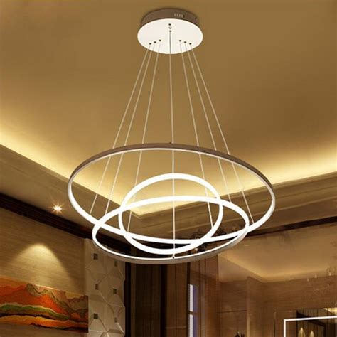 Led Light For Chandelier by Modern Circular Ring Pendant Light Acrylic Aluminum Led