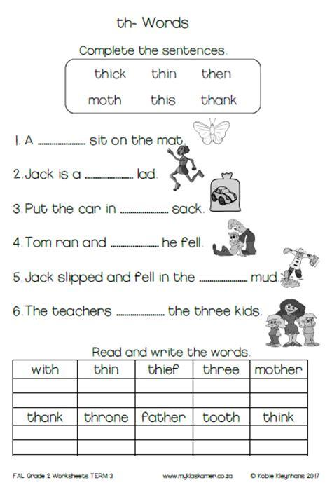 grade  english  additional language worksheets term