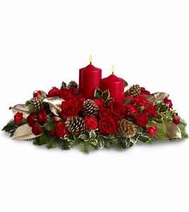 Table De Noel Traditionnelle : livraison fleurs de no l centre de table no l rouge et or ~ Melissatoandfro.com Idées de Décoration