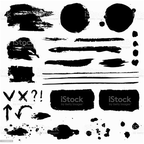 The color of patterns are only an option, remember you can choose the. Paint Brush Strokes Grunge Stains And Symbols Vector ...