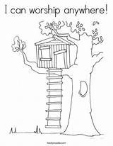 Tree Coloring Worship Pages Magic Psalm Anywhere Template Climb Treehouse Colouring Drawing Twistynoodle Houses Outline Sheets Trees Cartoon Cool Login sketch template